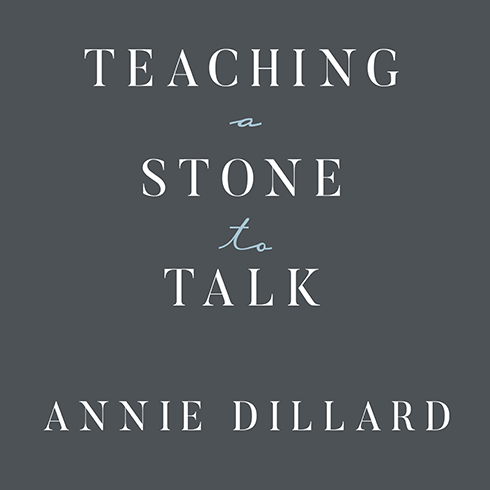 "annie dillard essays teaching a stone to talk The annie dillard show  the abundance: narrative essays old and new by annie dillard buy this book a chapter in teaching a stone to talk (1982), called ""living like weasels,"" is ."